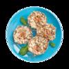 Фото к позиции меню Овсянники с яблоками и грецкими орехами запеченные