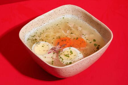 Суп Куриный с яичной лапшой