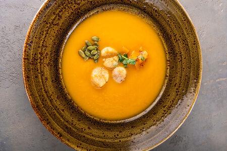 Крем-суп Тыквенный с гребешком