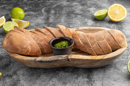 Домашний хлеб с песто