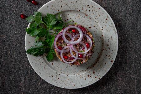 Красная фасоль с грецкими орехами