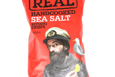 Чипсы картофельные Real с морской солью Real Crisps Limited