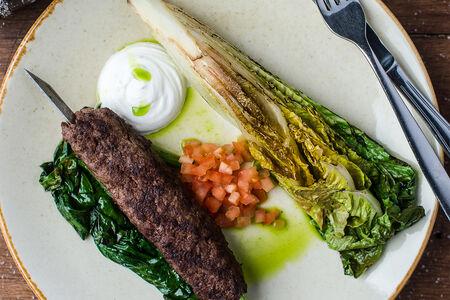 Люля-кебаб с романо и шпинатом