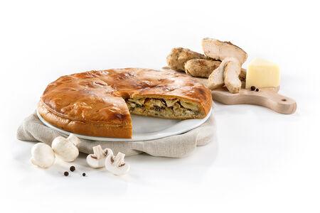 Пирог Балканский с курицей, грибами и сулугуни