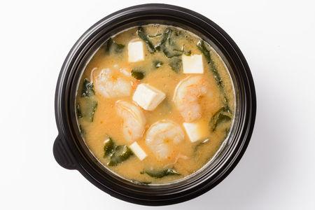 Мисо суп с тигровыми креветками