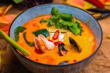 Китайский национальный тан с  морепродуктами