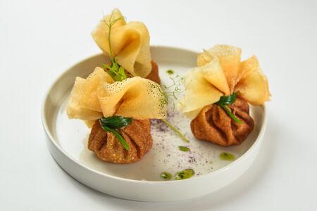 Блинчики со сливочным сыром и лососем
