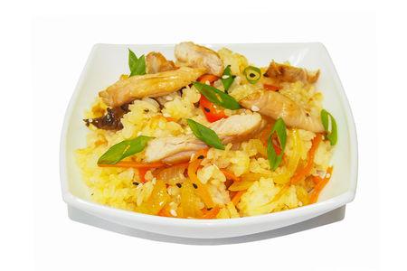 Тяхон с курицей в соусе Цую