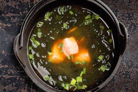 Мисо-суп с семгой