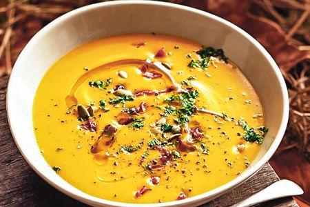 Тыквенный крем суп с крабом