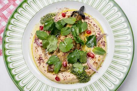 Хумус с запеченным баклажаном