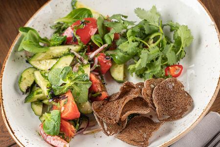 Салат Овощной с кинзой