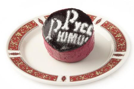 Десерт Бланманже в черносмородиновом суфле