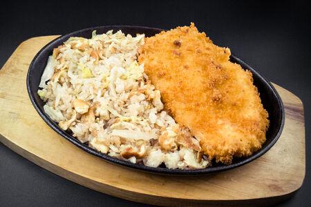 Куриный шницель с рисом