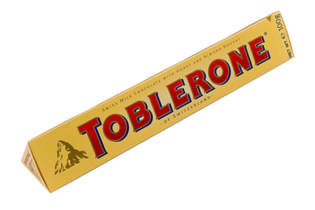 Шоколад Тоблерон молочный с медом и нугой, Швейцария