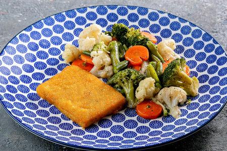 Филе Фиш с овощами на пару