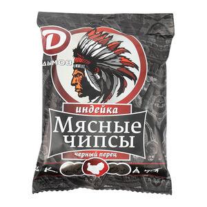 Чипсы «Дымов» индейка с чёрным перцем