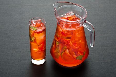 Лимонад Клубнично-апельсиновый