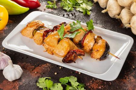 Шашлык куриный с овощами