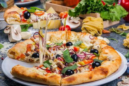 Пицца с сырными бортиками Бовина