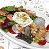 Фото к позиции меню Теплый салат из копченого лосося