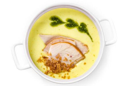 Картофельный суп с копченой курочкой