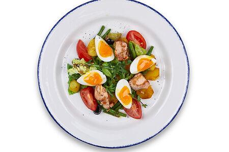 Салат с лососем террияки