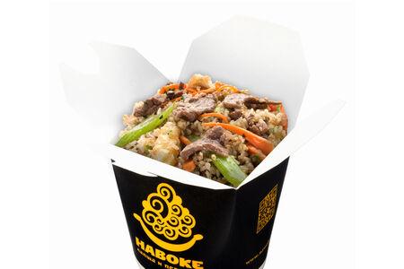 Рис Жасмин с говядиной в устричном соусе