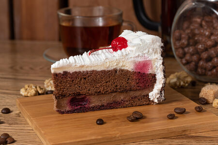 Торт Вишнево-сливочный