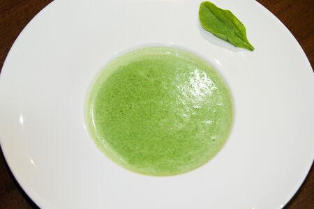Крем-суп из шпината со сливками