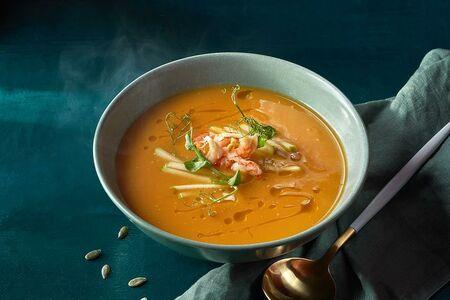 Тыквенный суп с раковыми шейками
