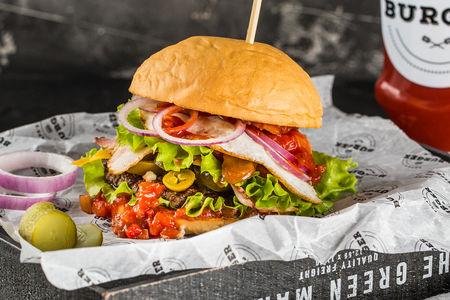 Бургер Лос Чарлинес с говядиной