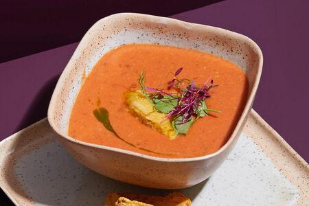 Суп Томатный на миндальном молоке с начос
