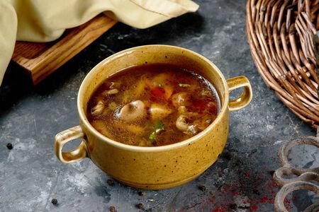 Суп из трех видов грибов