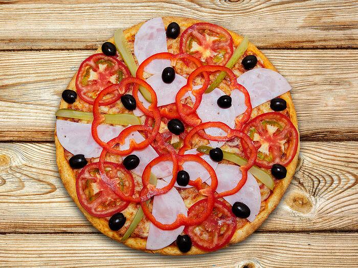 Пицца Домашняя с ветчиной