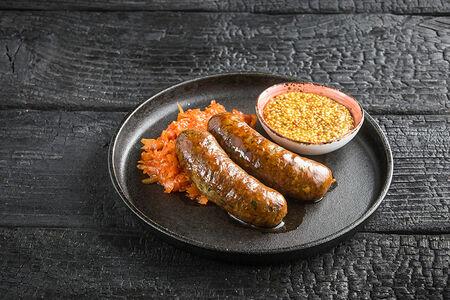 Колбаски из говядины и свинины