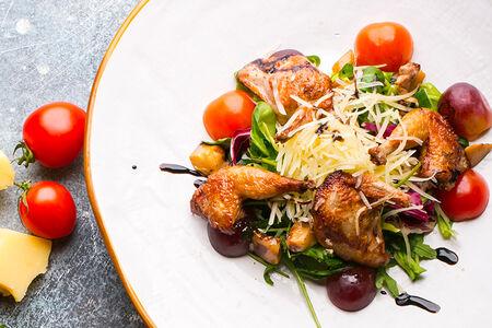 Салат с перепелой