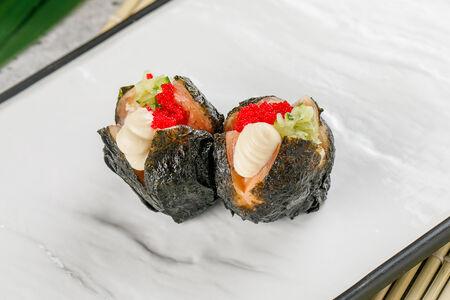 Темари-суши с лососем и дайконом