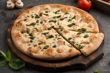 Пицца Деревенская со сливочным соусом