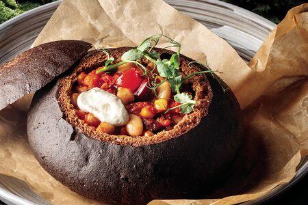 Чили в ржаном хлебе
