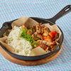 Фото к позиции меню Свинина с овощами в перечном соусе и рисом