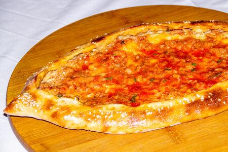 Турецкая Пиде с бараниной в томатном соусе