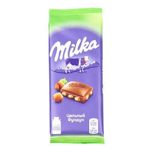 Milka цельный фундук
