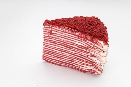 Порция Блинного торта Красный бархат