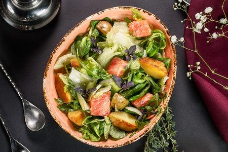 Салат Французский деревенский с лососем