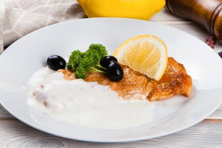 Семга филе со сливочным соусом
