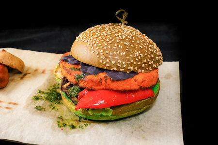 Бургер Вега с печеными овощами