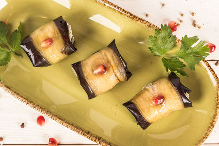 Жареные баклажаны с сыром