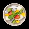 Фото к позиции меню Фруктовый микс Питахайя, клубника, киви, дыня, манго, кокос