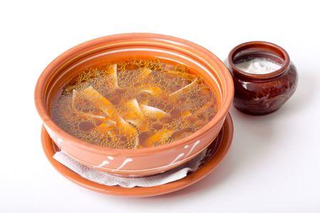Суп-лапша с белыми грибами